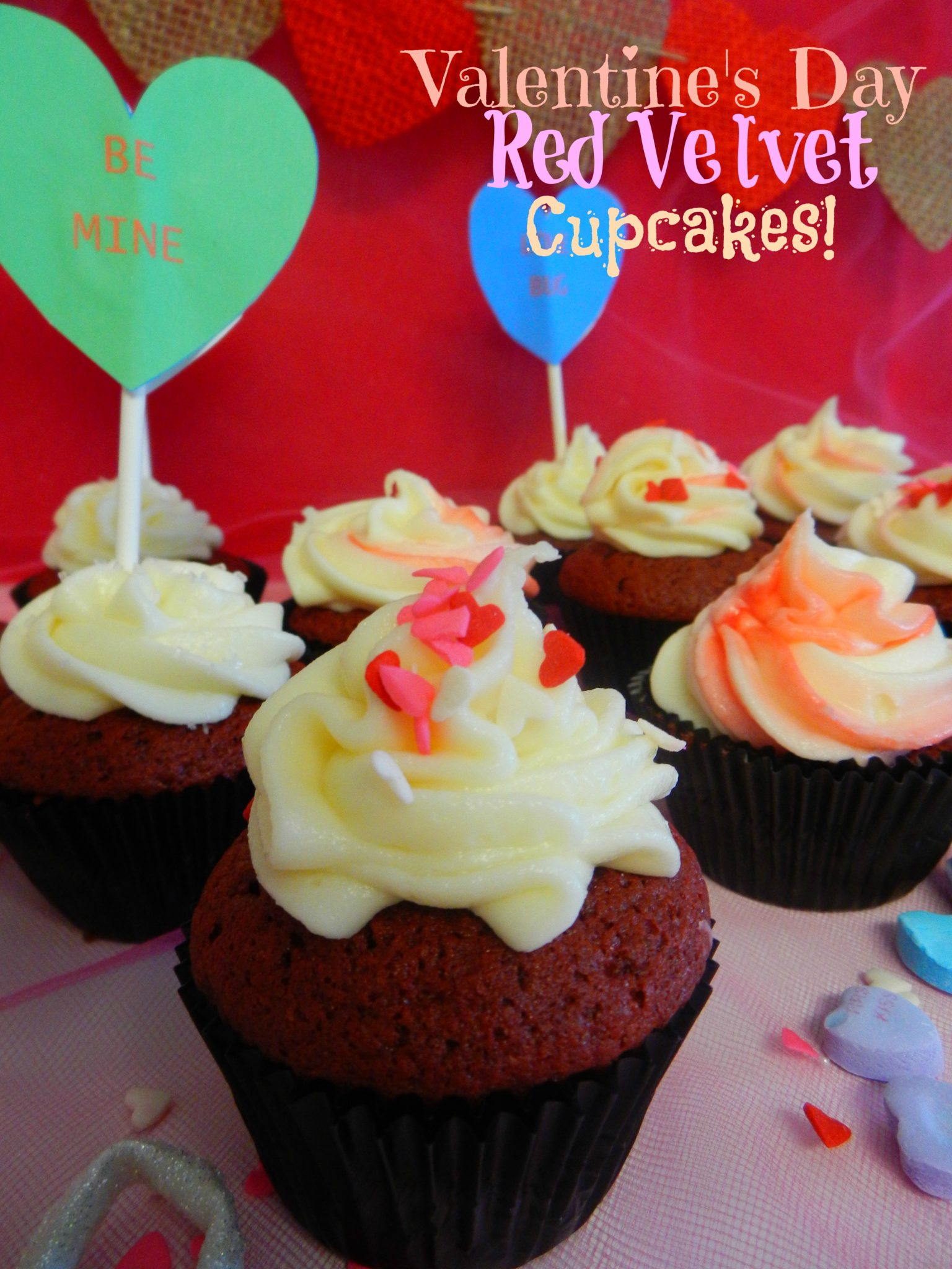 Valentine's Day Red Velvet Cup Cakes