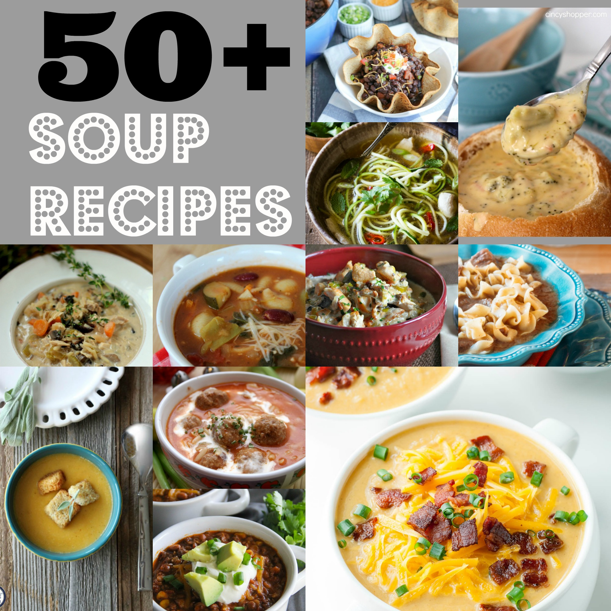 50+ Soup Recipes