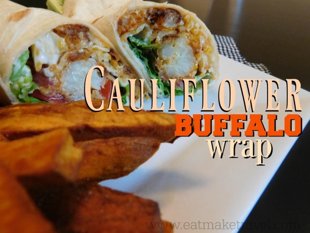 Cauliflower Buffalo Wraps