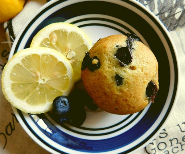 Vegan Lemon-Blueberry Muffins
