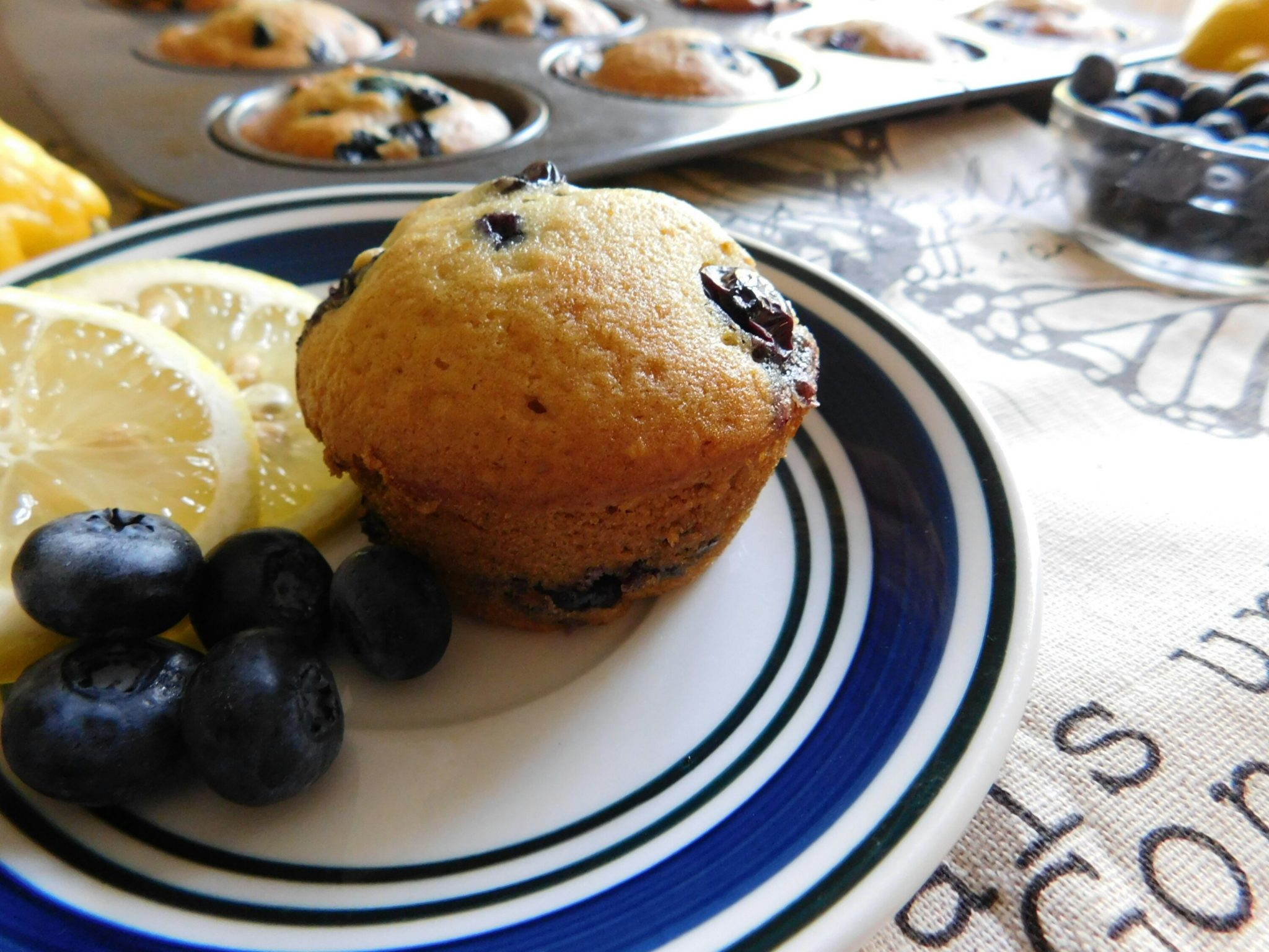 Eat Make Travel-Vegan lemon-Blueberry Muffins