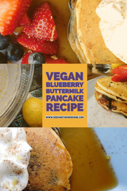 Vegan Blueberry Buttermilk Pancake Recipe